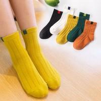 妙优童 儿童厚款中筒袜 5双装
