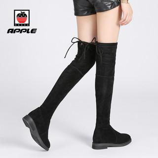 APPLE 苹果鞋 长筒靴女过膝长靴平底 37