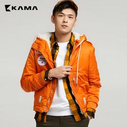 KAMA 卡玛 2417708 男士休闲棉服外套