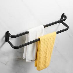 卫生间毛巾架北欧简约创意多层单双杆免打孔壁挂式浴室旋转毛巾杆