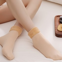 莉花妮 加绒雪地袜 3双装