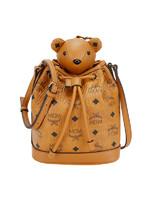 MCM 女士棕色小熊玩偶抽绳水桶包 MYZ8AXL47CO001