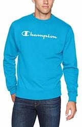 Champion 男式图案高强度羊毛圆领衫