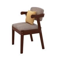 唐弓 实木软包Z型椅 胡桃色