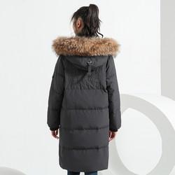 千仞岗2019新款羽绒服女韩版加厚冬长款过膝大毛领廓形外套