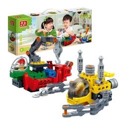 邦宝益智拼装积木玩具 拧拧梦工场 二合一船舶套装9702