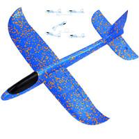 京东PLUS会员 : 可爱布丁 滑翔机泡沫飞机 48cm 蓝 *9件