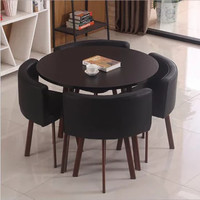 钢管仿木烤漆桌椅 现代简约环保户外阳台咖啡厅餐厅卡座桌椅组合B146(款式9 散装发货)