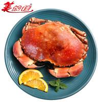 美加佳 熟冻面包蟹黄金蟹黄道蟹礼盒 1.2-1.4kg 5只装  海鲜水产