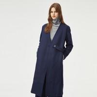 伊芙丽长袖系带宽松休闲大衣