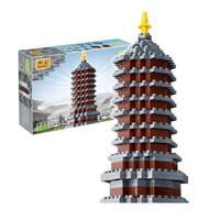 邦宝 拼插积木木模型 永定塔 6566(343颗粒)