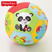 费雪婴儿手抓球手摇铃铛球类玩具动物认知球训练触感布球6-12个月