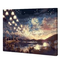 佳彩天颜 DIY数字油画 40*50cm 带内框 1.6cm厚