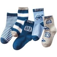 抱抱狗 儿童中筒袜 5双装