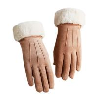 木非鱼 保暖触屏 仿麂皮绒手套