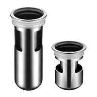 防臭地漏卫生间下水道防臭盖洗衣机硅胶内芯304不锈钢