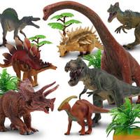 活石 恐龙玩具 礼盒装 大号全套八只