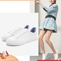 Tata他她2019新款新品专柜同款ins小白鞋板鞋平底女单鞋FBF01AM9