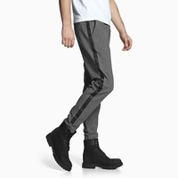 INTERIGHT 男款针织束脚时尚运动裤