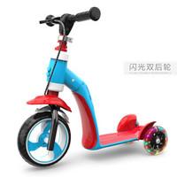 儿童滑板车多功能三轮闪光溜溜车