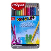 Maped 马培德 836014 水溶性彩色铅笔 12色铁盒装