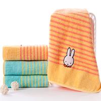 金号 米菲 纯棉毛巾四条装 柔软吸水 卡通贴布绣布艺包边