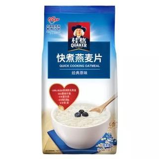 QUAKER/桂格快煮原味燕麦片700g/袋谷物粗粮营养早餐冲饮速食代餐 *10件