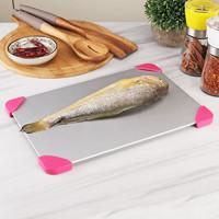 急速解冻板海鲜肉类牛排快速化肉解冻盘厨房用品烹饪极速化冰家用