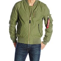 中亚prime会员、限尺码 : Alpha Industries Men's MA-1 Skymaster Water Resistant Flight Bomber Jacket