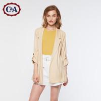 C&A薄款垂顺感气质休闲西装翻领外套女士秋冬款CA200220256-EL