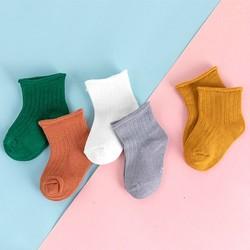 Miiow 猫人 纯棉中筒袜 5双装