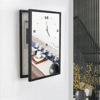 百特好新中式电表箱装饰画挂钟带钟表强弱配电箱遮挡画竖版免打孔