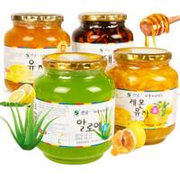 韩国进口全南蜂蜜柚子茶果味茶 1kg瓶装 *2件