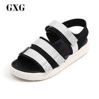 GXG男鞋凉鞋2018夏季新款魔术贴潮流韩版沙滩鞋182850804
