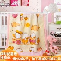 双层加厚保暖拉舍尔绒毯儿童宝宝午睡毛毯子婴儿卡通秋冬季小盖毯