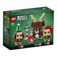 LEGO 乐高 拼插玩具 40353 圣诞节驯鹿与圣诞精灵