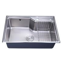 JOMOO 九牧 06119 304不锈钢厨房水槽+33080全铜龙头