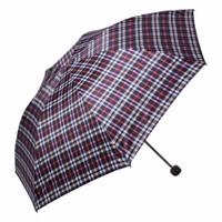 移动专享 : 天堂伞 三折英伦格子晴雨伞 红黑小格