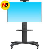 NB 通用电视支架落地液晶电视会议推车电视机移动挂架激光电视架立式落地家用显示屏支架(32-65英寸)黑色