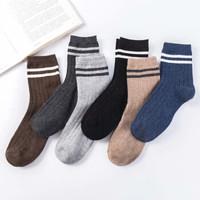 羊毛袜加厚中筒袜男士5双装商务休闲保暖