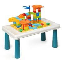 OMKHE 多功能积木桌大颗粒+100颗粒滑道积木