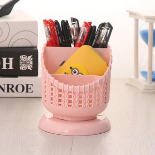 桌面化妆品收纳盒小笔筒创意时尚可爱多功能收纳摆件筒储物盒学生