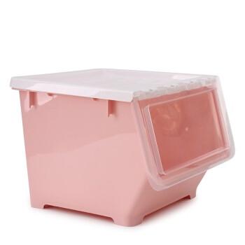 BELO 百露 前开式塑料收纳箱 粉色