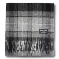 Gretna Green 格林小镇 纯羊毛灰色格子围巾
