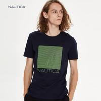 nautica/诺帝卡男装T恤男夏季休闲纯色男简洁短袖NA002698