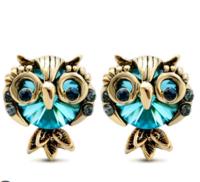 Mbox 设计感小众猫头鹰复古耳饰