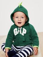 Gap 盖璞 婴儿Logo徽标小动物图案抓绒连帽卫衣 *2件