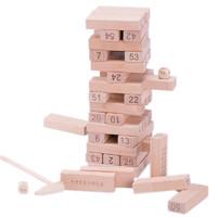 54片榉木叠叠高 两个骰子(配送一个敲锤)