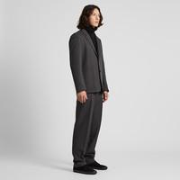UNIQLO 优衣库 421163 男装 宽腿窄口长裤 灰色 175