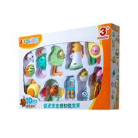 澳贝 摇铃系列 10只盒装摇铃塑料玩具463129DS
